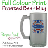 Full Colour Print Frosted Beer Mug