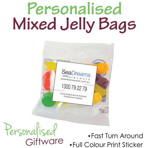 Full Colour Print Assorted Jelly Bags 50g