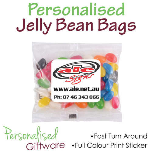 Full Colour Print JELLY BEAN Bags 50g