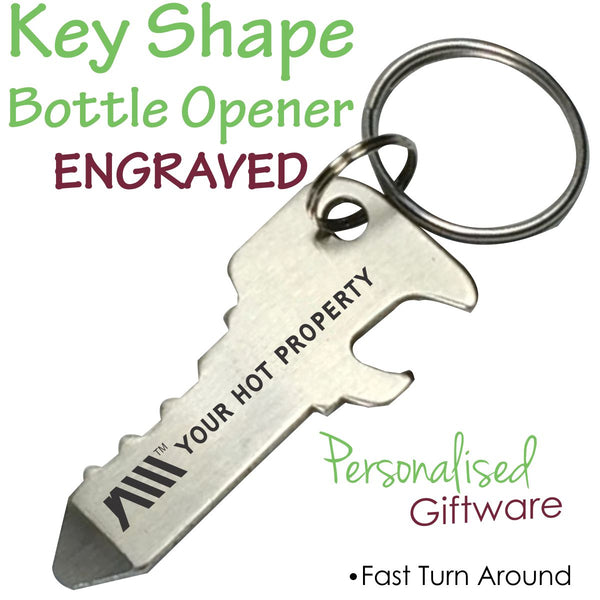 Key Shape Bottle Opener Keyring