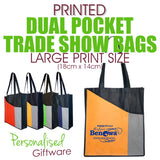 Full Colour Printed Dual Pocket Trade Show Bags - LARGE SIZED PRINT