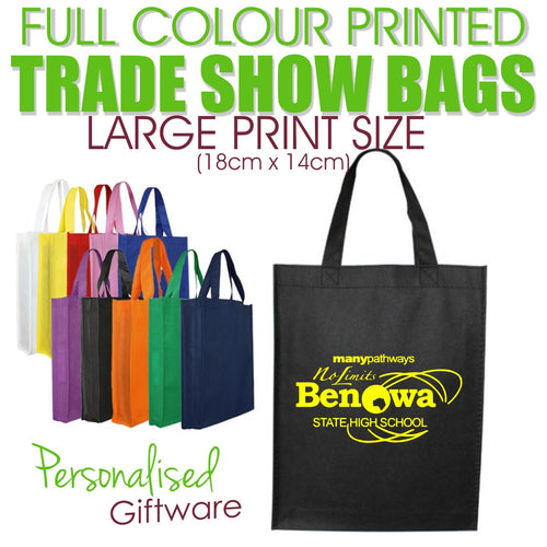 Full Colour Printed Trade Show Bags - LARGE SIZED PRINT