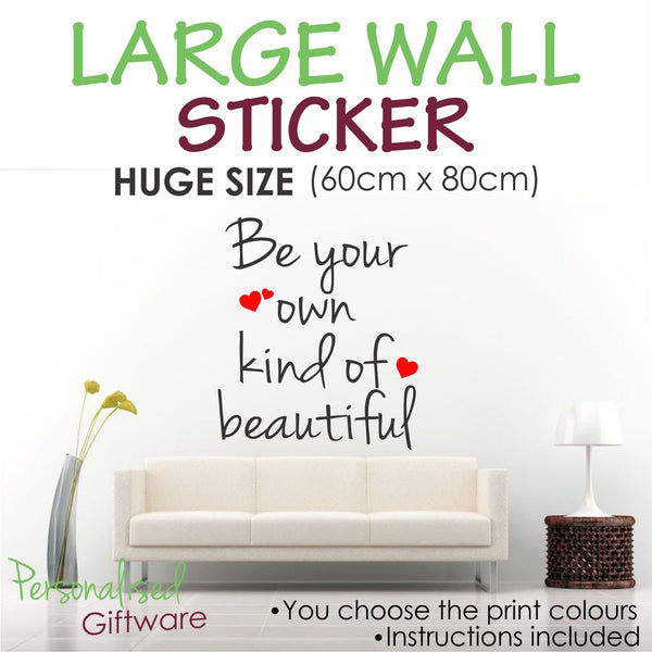 Large Wall Sticker - Own Kind of Beautiful