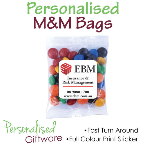 Full Colour Print M&M Bags 50g