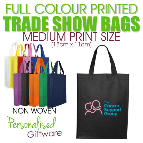 Full Colour Printed Trade Show Bags - MEDIUM SIZED PRINT