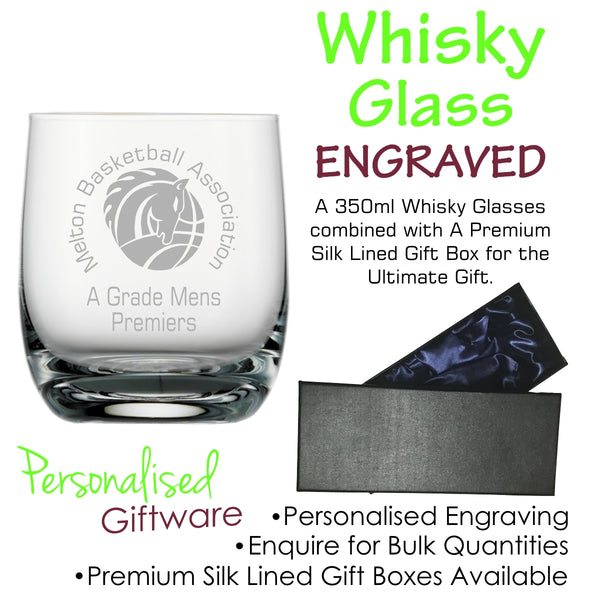 Premium Range Crystal Scotch Whisky Glass 350ml