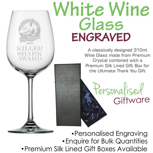 Premium Range Crystal White Wine Glass 350ml
