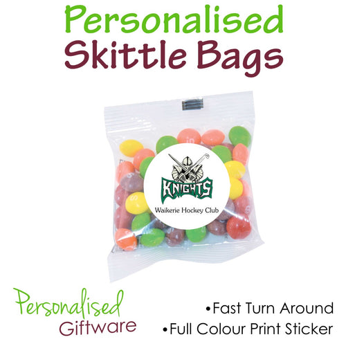 Full Colour Print Assorted Fruit Skittle Bags 50g