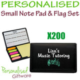 Small Note Pad & Flag Set Qty 200