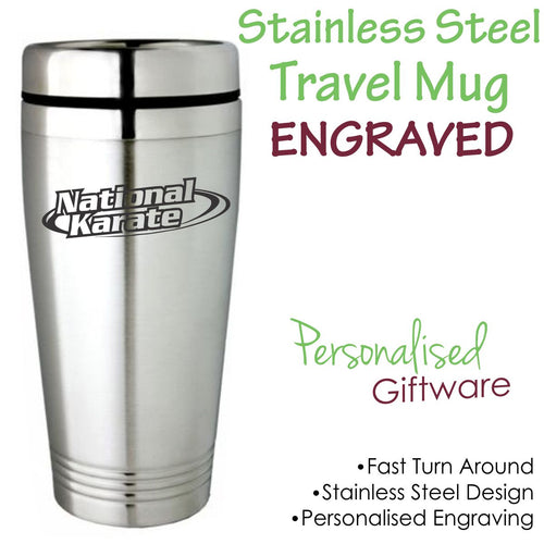 Personalised Stainless Steel Travel Mug NO Handle