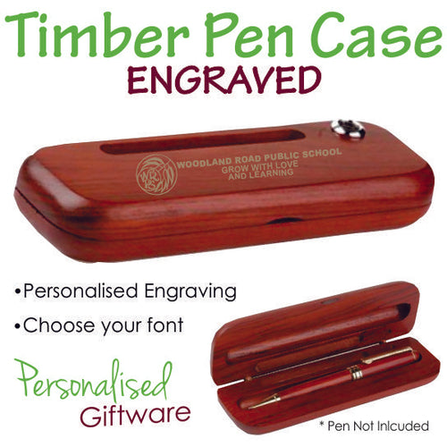 Premium Timber Gift Box for Pen - Engraved