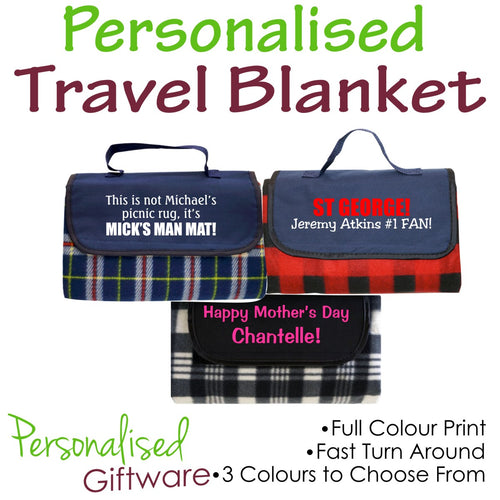 Personalised Travel Blanket