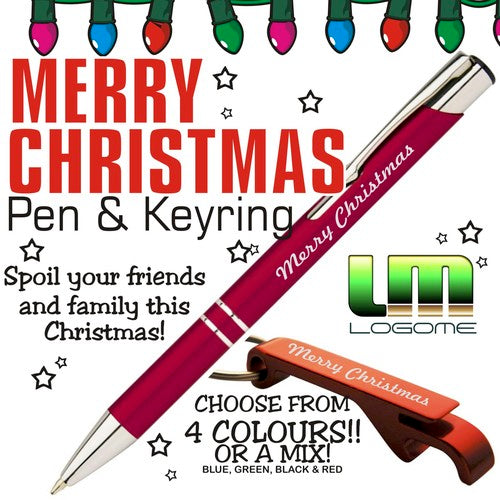 Merry Christmas Pen and Keyring
