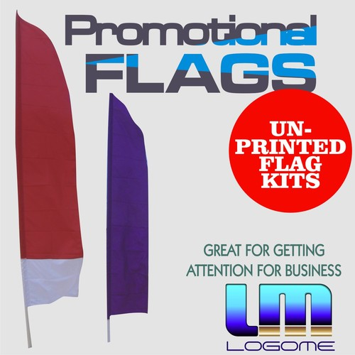 Printed Promotional Flags Kit - Un-Printed