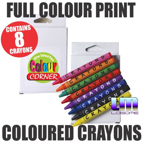 Coloured Crayons in a Box
