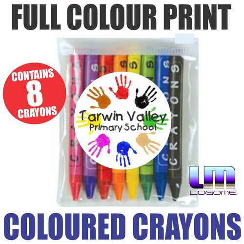 Coloured Crayons in a Pouch