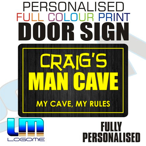 Personalised Full Colour Door Sign