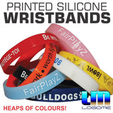 Printed Silicone Wristbands x 100