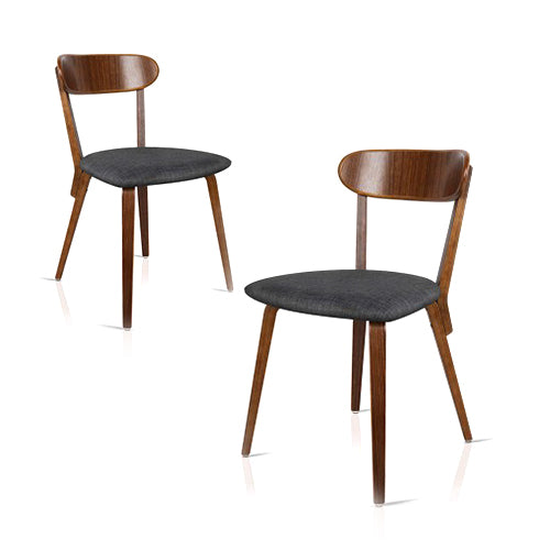 Modern Wood Fabric Dining Chair
