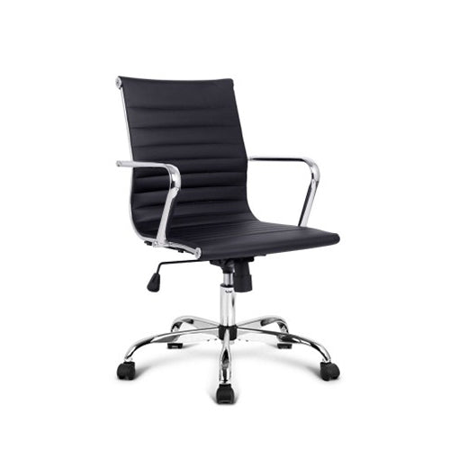 Replica Eames PU Leather Office Chair - Low Back