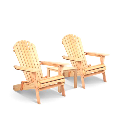 Hampton Style Wood Outdoor Chair Set with Table