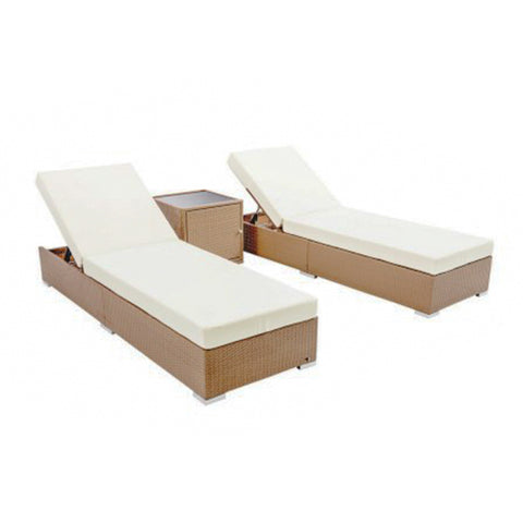 Rattan Outdoor Daybed Lounger Set