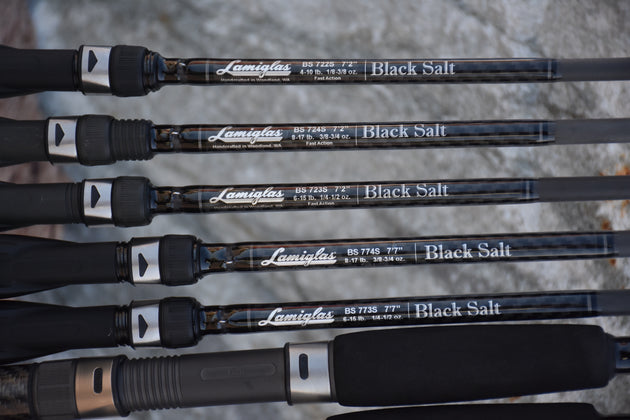 "BS 724 S  | 7'2"" 3/8-3/4 oz. Black Salt Inshore Spin Rod"