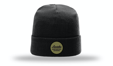 Black Wool Beanie w/ Olive Surfcasting Division Patch