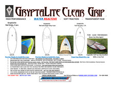 GryptaLite Clear Rail Grip, Center Grip and Full Top Grip for Knee Board, Paipo, Body Board.  Select a Kit Type Below.  AVAILABLE NOW, Click Add to Cart