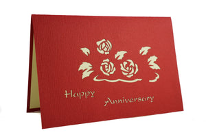 Flower basket happy anniversary card u2013 squirrely cards