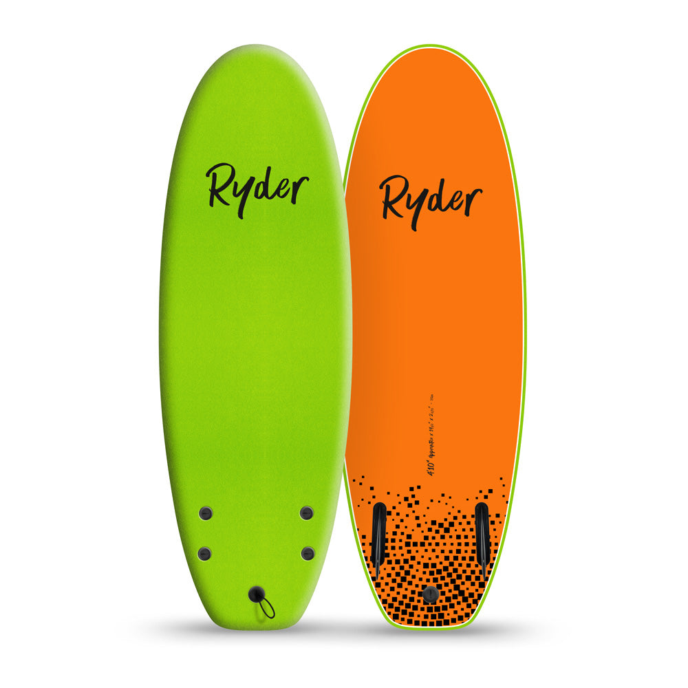 Apprentice | 4ft10in - Apple Green - Ryder Soft Surfboards