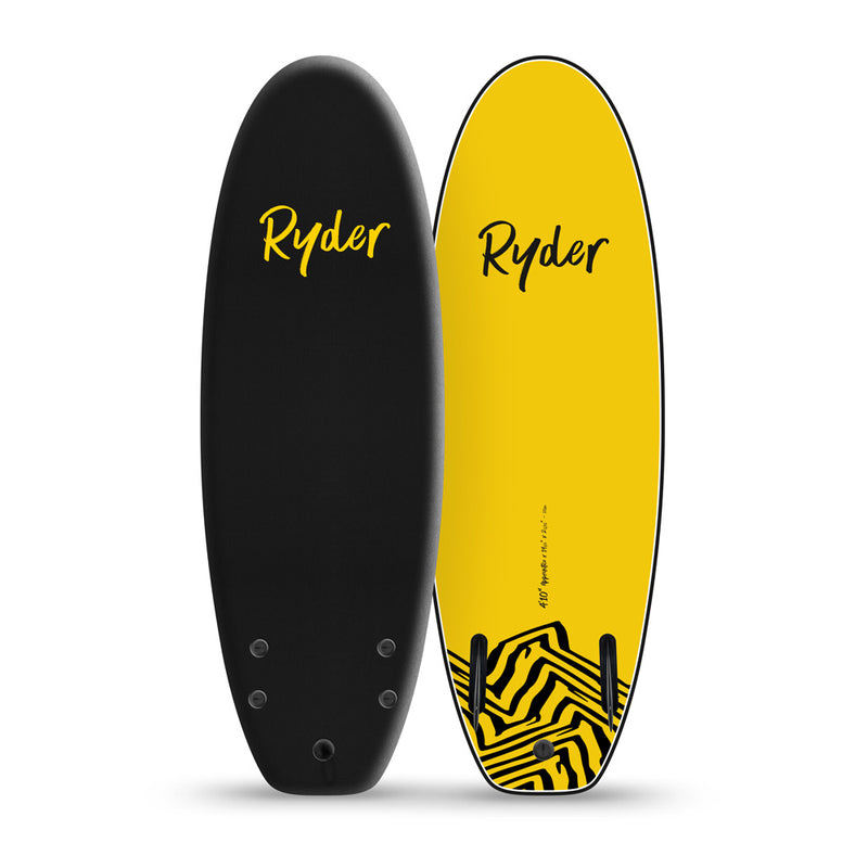 Apprentice | 4ft10in - Black - Ryder Soft Surfboards