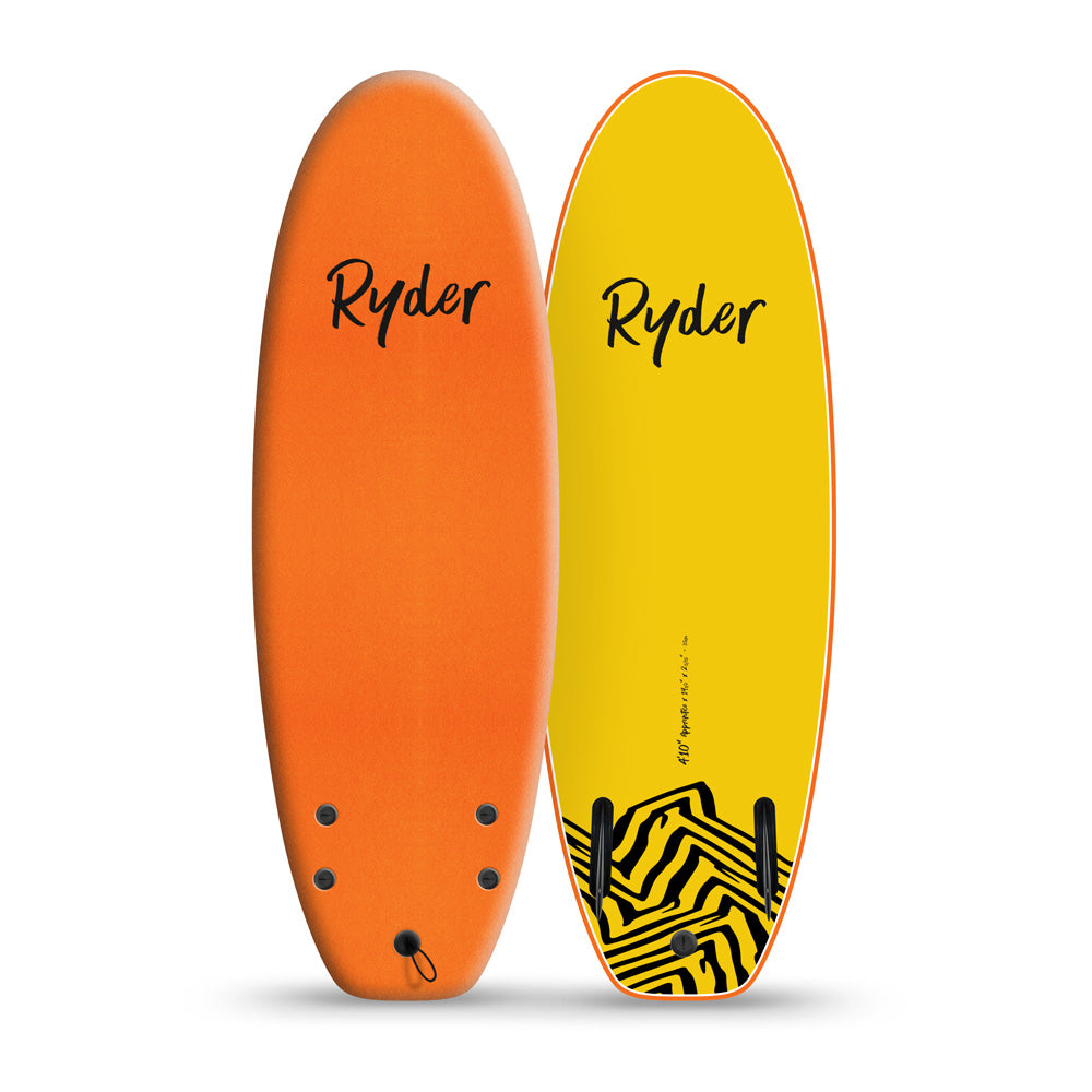 Apprentice | 4ft10in - Orange - Ryder Soft Surfboards