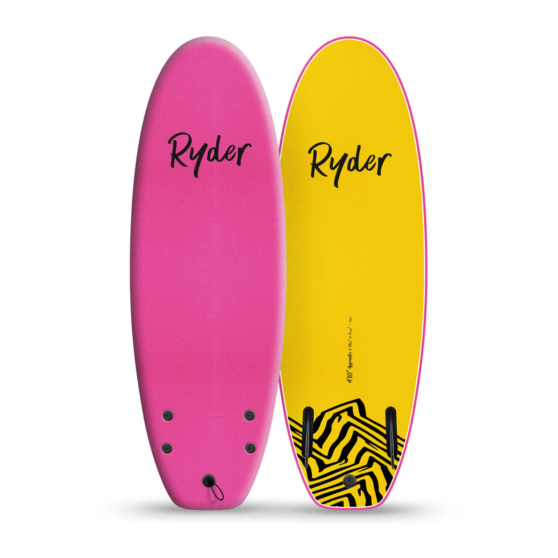 Apprentice | 4ft10in - Pink - Ryder Soft Surfboards