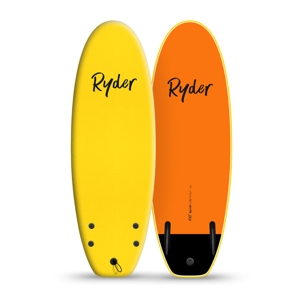 Apprentice | 4ft10in - Yellow - Ryder Soft Surfboards
