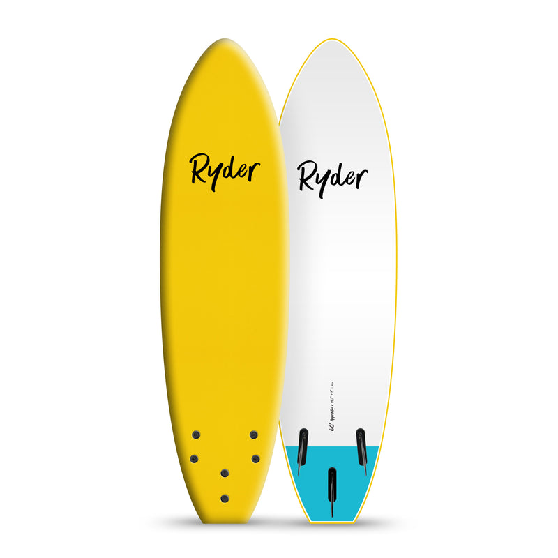Apprentice | 6ft - Yellow - Ryder Soft Surfboards