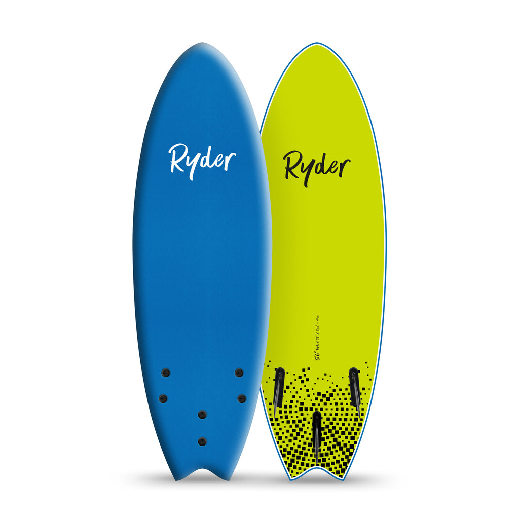 Fish Series | 5ft6in - AzBlue - Ryder Soft Surfboards