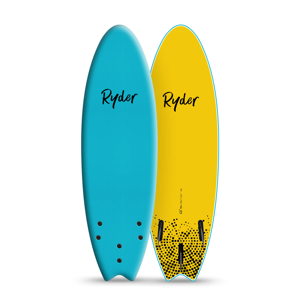 Fish Series | 6ft6in - Blue Curacao - Ryder Soft Surfboards