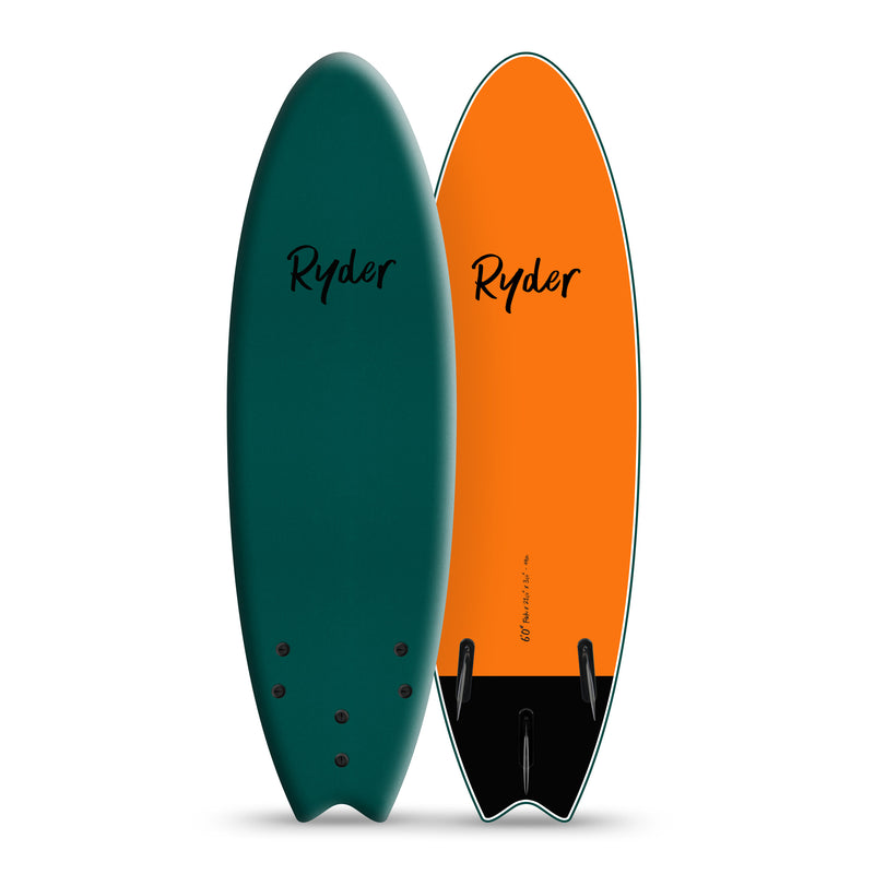 Fish Series | 6ft - Mallard Green - Ryder Soft Surfboards