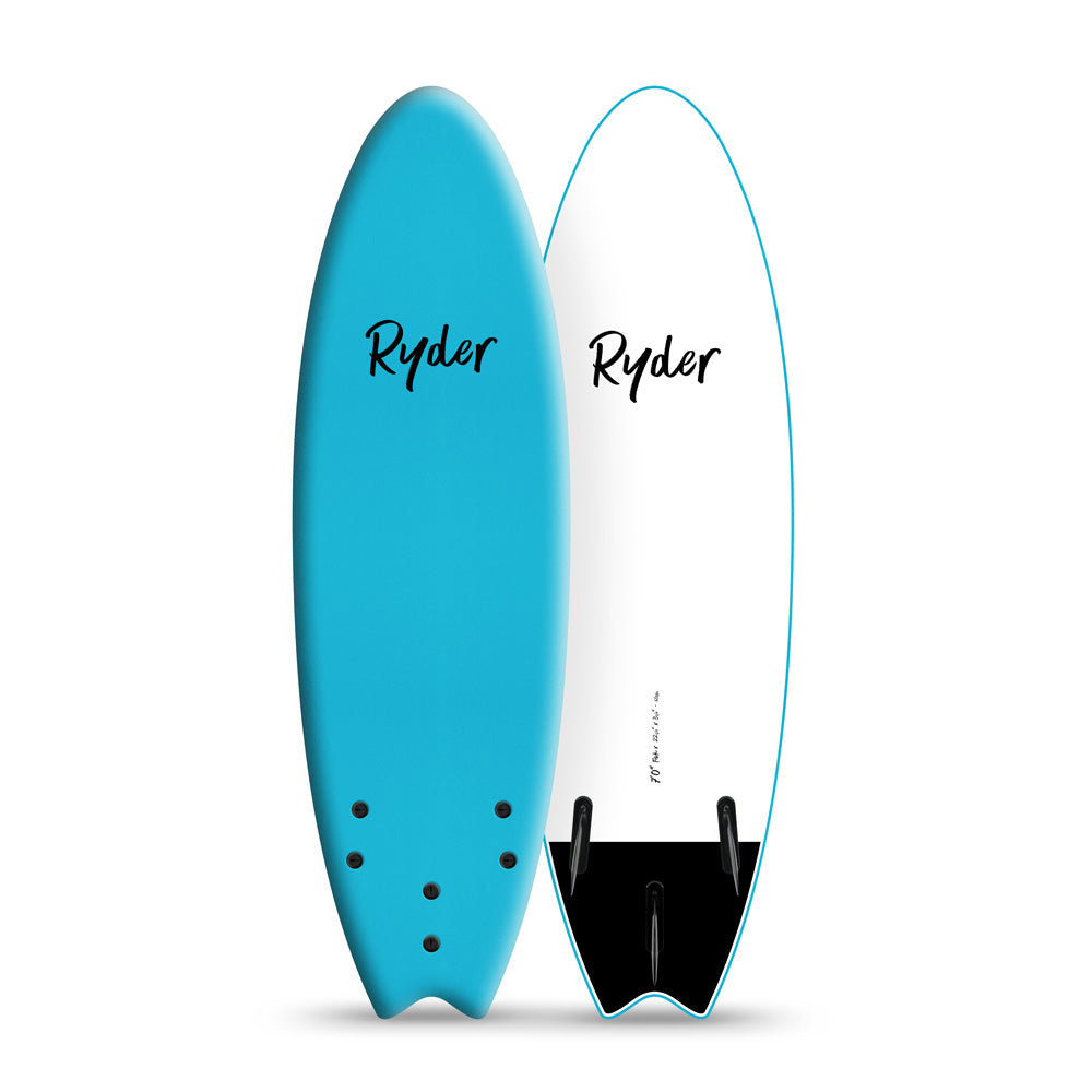 Fish Series | 7ft - Blue Curacao - Ryder Soft Surfboards