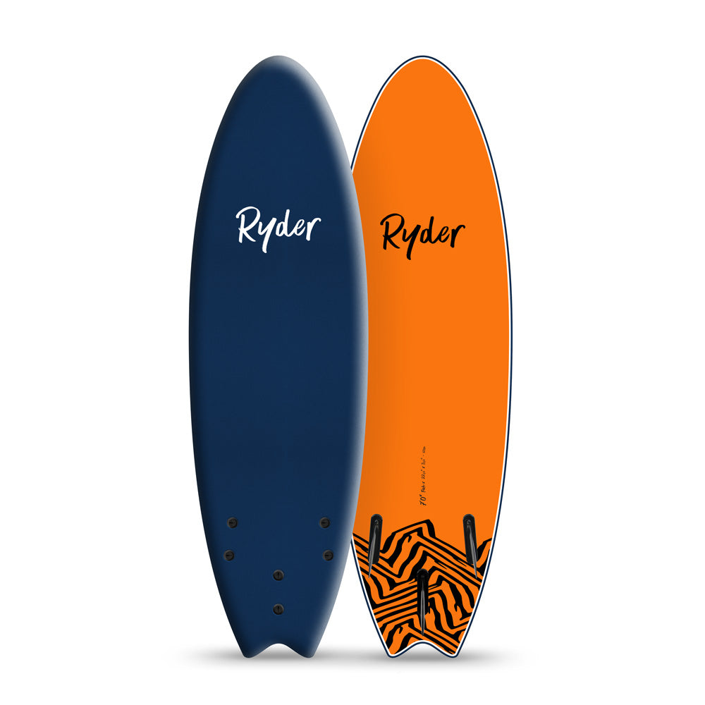 Fish Series | 7ft - Midnight Blue - Ryder Soft Surfboards