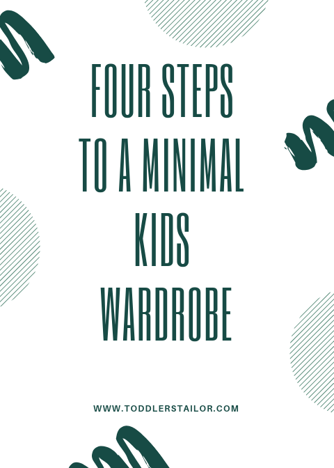 Four Tips to Achieve a Minimalist Kids Closet