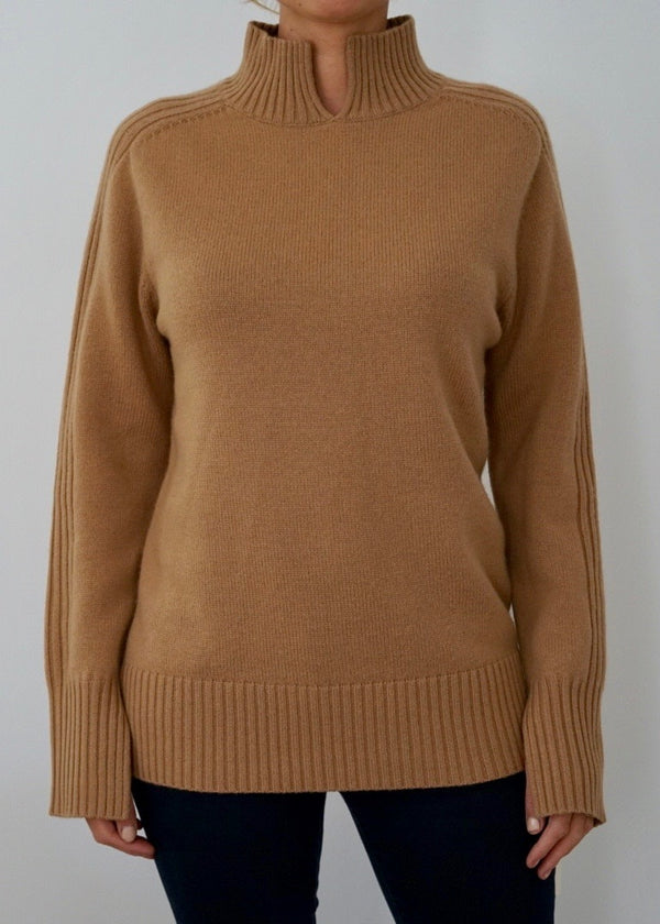 Cashmere Sweater in Camel | Sample