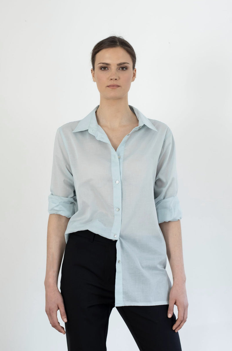 Le Boy Shirt | White or Powder Blue