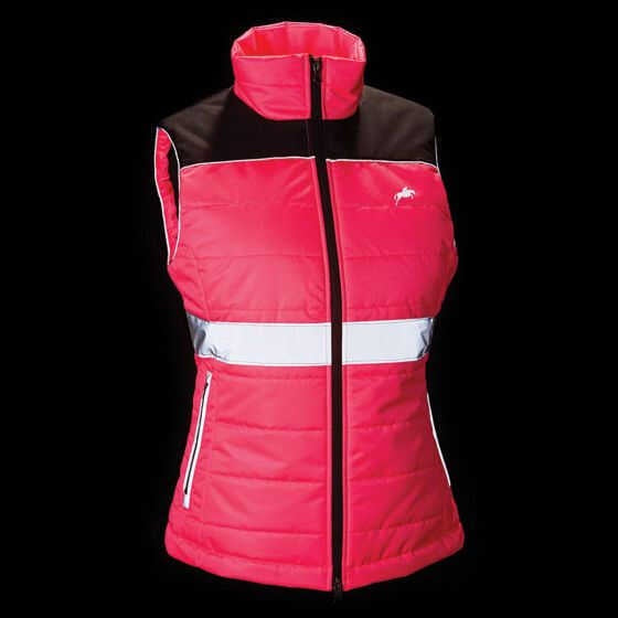 Harry Hall Pink Hi Viz Womens Down Gilet