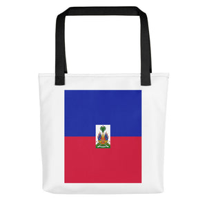 Haiti Flag Tote bag