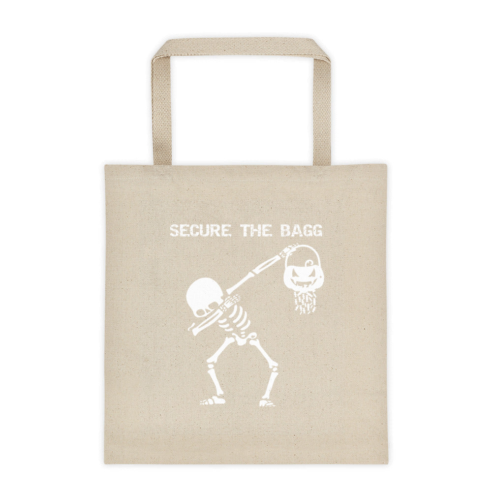 White Dabbing Skeleton Secure the Tote bag 2.0
