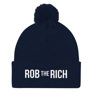 ROB the RICH Pom Pom Knit Cap