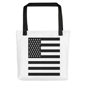Black American Flag Tote bag