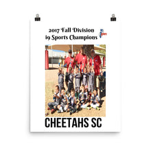 Cheetahs SC 2017 i9 Sports Champions Photo paper poster